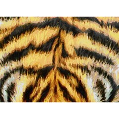 Tiger Fur Painting Birthday Cake 3d Greeting Card (7x5) by AnjaniArt