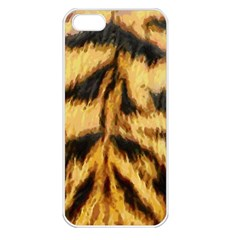 Tiger Fur Painting Apple Iphone 5 Seamless Case (white) by AnjaniArt