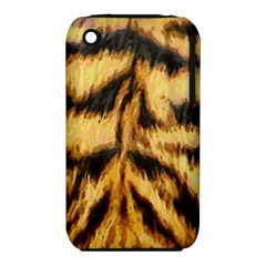 Tiger Fur Painting Apple Iphone 3g/3gs Hardshell Case (pc+silicone) by AnjaniArt