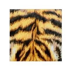 Tiger Fur Painting Small Satin Scarf (square) by AnjaniArt