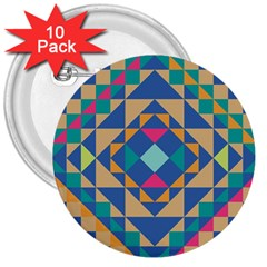 Tiling Pattern 3  Buttons (10 Pack)  by AnjaniArt