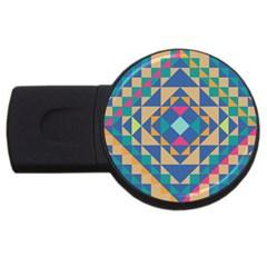 Tiling Pattern Usb Flash Drive Round (4 Gb)  by AnjaniArt