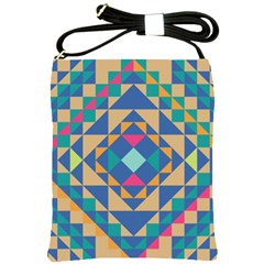Tiling Pattern Shoulder Sling Bags by AnjaniArt
