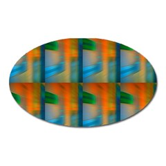 Wall Of Colour Duplication Oval Magnet by AnjaniArt