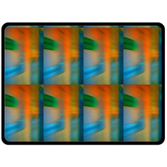 Wall Of Colour Duplication Double Sided Fleece Blanket (Large)  by AnjaniArt