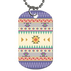 Your First Aztec Pattern Dog Tag (one Side) by AnjaniArt