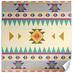 Your First Aztec Pattern Canvas 20  X 20   by AnjaniArt