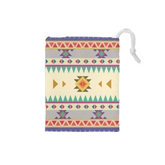 Your First Aztec Pattern Drawstring Pouches (small)  by AnjaniArt