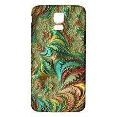 Fractal Artwork Pattern Digital Samsung Galaxy S5 Back Case (White) by Zeze