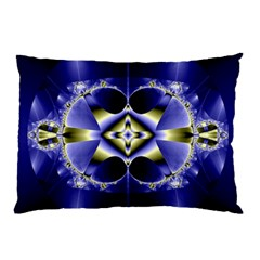 Fractal Fantasy Blue Beauty Pillow Case (Two Sides)