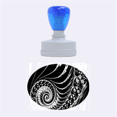 Fractal Spiral Endless Mathematics Rubber Oval Stamps by Zeze