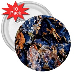 Frost Leaves Winter Park Morning 3  Buttons (10 pack)  by Zeze
