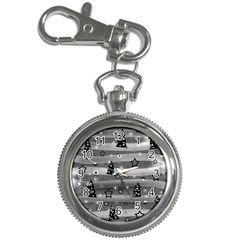 Gray Xmas Magic Key Chain Watches by Valentinaart