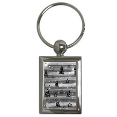 Gray Xmas Magic Key Chains (rectangle)  by Valentinaart