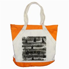 Gray Xmas Magic Accent Tote Bag by Valentinaart