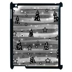 Gray Xmas Magic Apple Ipad 2 Case (black) by Valentinaart