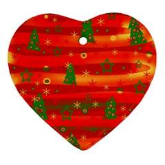 Xmas Magic Ornament (heart)  by Valentinaart