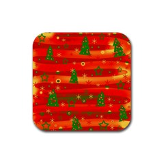 Xmas Magic Rubber Square Coaster (4 Pack)  by Valentinaart