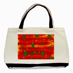 Xmas Magic Basic Tote Bag by Valentinaart