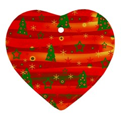 Xmas Magic Heart Ornament (2 Sides) by Valentinaart