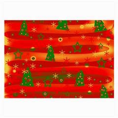 Xmas Magic Large Glasses Cloth (2 Side) by Valentinaart