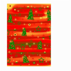 Xmas Magic Large Garden Flag (two Sides) by Valentinaart