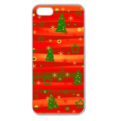 Xmas Magic Apple Seamless Iphone 5 Case (clear) by Valentinaart