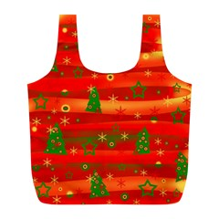 Xmas Magic Full Print Recycle Bags (l)  by Valentinaart