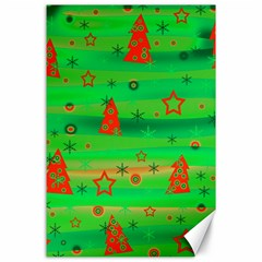 Green Xmas Magic Canvas 24  X 36  by Valentinaart