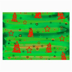Green Xmas Magic Large Glasses Cloth (2 Side) by Valentinaart