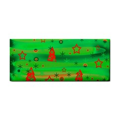 Green Xmas Magic Hand Towel by Valentinaart