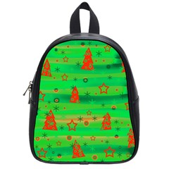 Green Xmas Magic School Bags (small)  by Valentinaart