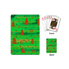 Green Xmas Magic Playing Cards (mini)  by Valentinaart