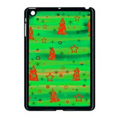 Green Xmas Magic Apple Ipad Mini Case (black) by Valentinaart
