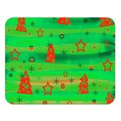 Green Xmas Magic Double Sided Flano Blanket (large)  by Valentinaart
