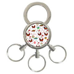 Xmas Song 3 Ring Key Chains by Valentinaart