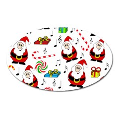 Xmas Song Oval Magnet by Valentinaart