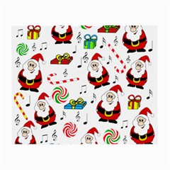 Xmas Song Small Glasses Cloth by Valentinaart