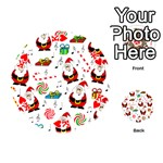 Xmas song Playing Cards 54 (Round)  Front - HeartK