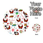 Xmas song Playing Cards 54 (Round)  Front - Club4