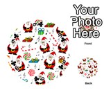 Xmas song Playing Cards 54 (Round)  Front - Club9