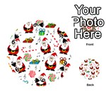 Xmas song Playing Cards 54 (Round)  Front - Spade9