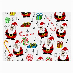 Xmas Song Large Glasses Cloth by Valentinaart