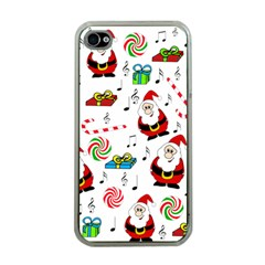 Xmas Song Apple Iphone 4 Case (clear) by Valentinaart