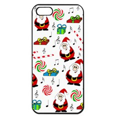 Xmas Song Apple Iphone 5 Seamless Case (black) by Valentinaart