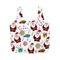 Xmas Song Full Print Recycle Bags (m)  by Valentinaart