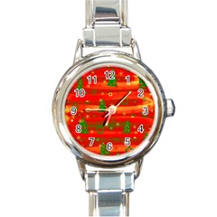 Christmas Magic Round Italian Charm Watch by Valentinaart
