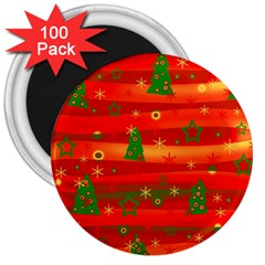 Christmas Magic 3  Magnets (100 Pack) by Valentinaart