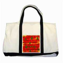 Christmas Magic Two Tone Tote Bag by Valentinaart