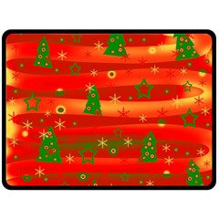 Christmas Magic Fleece Blanket (large)  by Valentinaart